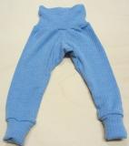 Baby-Leggin, Bio-Baumwolle-Bio-Wolle und Seide, blau