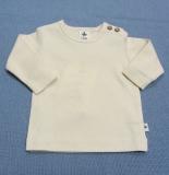 Shirt langarm, Bio-Baumwolle, natur
