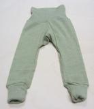 Baby-Leggin, Bio-Baumwolle-Bio-Wolle und Seide, grün