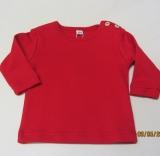 Shirt langarm, Bio-Baumwolle, rot