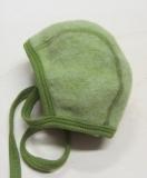 Häubchen, Bio-Wollfleece, grün melange