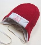 Mütze PICKAPOOH-Emil, Bio-Wollfrottee, rot