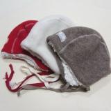 Mütze PICKAPOOH-Jan-Teddyfutter, Bio-Wollfleece, rot