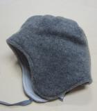 Mütze PICKAPOOH-Jack-Baumwollfutter, Bio-Wollfleece, grau