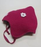 Mütze PICKAPOOH-Zoe-Baumwollfutter, Bio-Wollwalk, pink