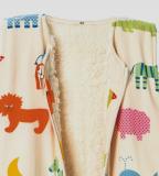Cotonea Schlafsack mit Teddyplüschfutter, 100% Bio-Baumwolle (kbA), Arche Noah