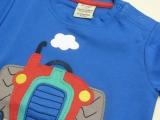 Frugi Shirt kurzarm kurz, 100% Bio-Baumwolle (kbA),  Traktor