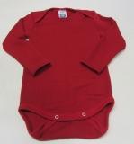 Cosilana Body langarm, 70% Bio-Wolle (kbT) und 30% Seide, rot