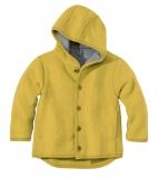 Disana Walk-Jacke mit Kapuze, 100% Bio-Wolle (kbT), curry