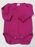 Cosilana Body langarm, 70% Bio-Wolle (kbT) und 30% Seide, pink