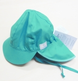 Mütze mit Schild PICKAPOOH-Felix UV 80, 100% Bio-Baumwolle (kbA), türkis