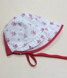 Sommer-Mütze PICKAPOOH-Emma, 100% Bio-Baumwolle (kbA), weiß Blümchen