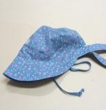 Mütze mit Schild PICKAPOOH-Amelie, 100% Bio-Baumwolle (kbA), blau Blümchen