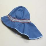 Mütze mit Schild und Nackenschutz PICKAPOOH-Feuerwehr Strick UV 80, 100% Bio-Baumwolle (kbA), jeans