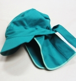 Mütze mit Schild und Nackenschutz PICKAPOOH-Nico UV 80, 100% Bio-Baumwolle (kbA), greenslate