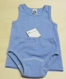 Cosilana Unterhemd ohne Arm, 45% Bio-Baumwolle, 35% Bio-Wolle und 20% Seide, blau