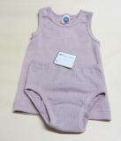 Cosilana Unterhemd ohne Arm, Bio-Baumwolle-Bio-Wolle und Seide, pink meliert