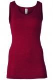Engel Damen-Achselhemd, 70% Bio-Wolle (kbT) und Seide, malve