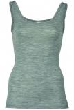 Engel Damen-Achselhemd, 70% Bio-Wolle (kbT) und Seide, hellgrau