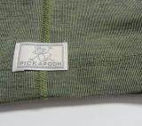 Pickapooh Schlauchtuch Strunzl, 70% Bio-Wolle (kbT) u. Seide, rot-weiß